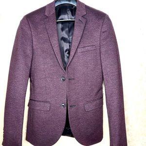 Fitted blazer in burgundy